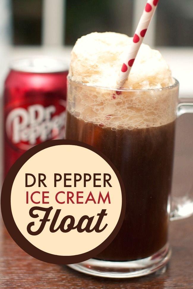 Dr. Pepper Ice Cream Float