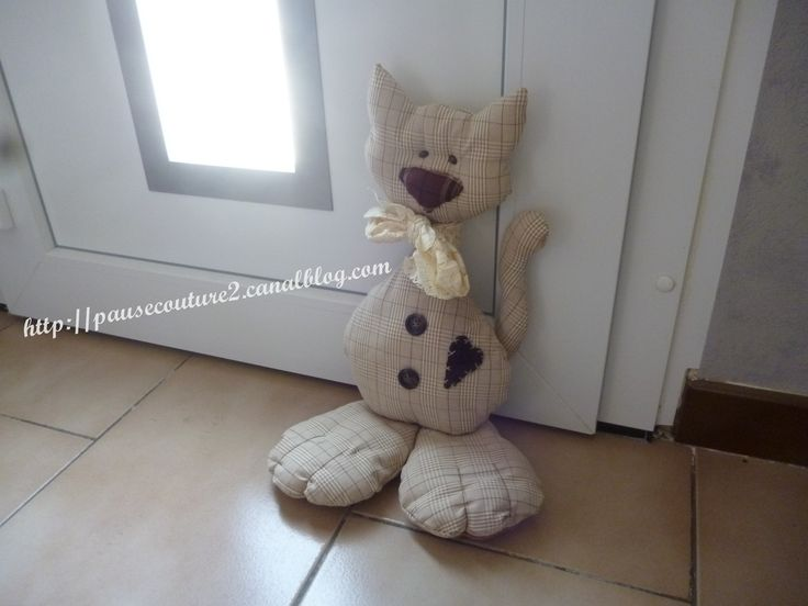 Cale porte chat ... Cat doorstop sewing