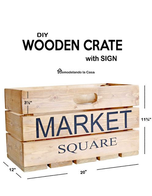 DIY – Wooden Crate – Complete instructions  – Crafty