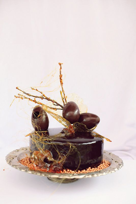 Chocolate decor for Easter