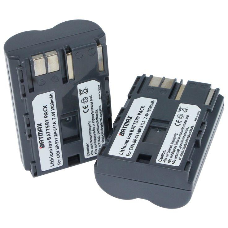 2Pcs 1800mAh BP-511 BP511 BP 511 BP-511A Battery For Canon G6 G5 G3 G2 G1 EOS 300D 50D 40D 30D 20D 5D MV300i Digital Camera #Affiliate