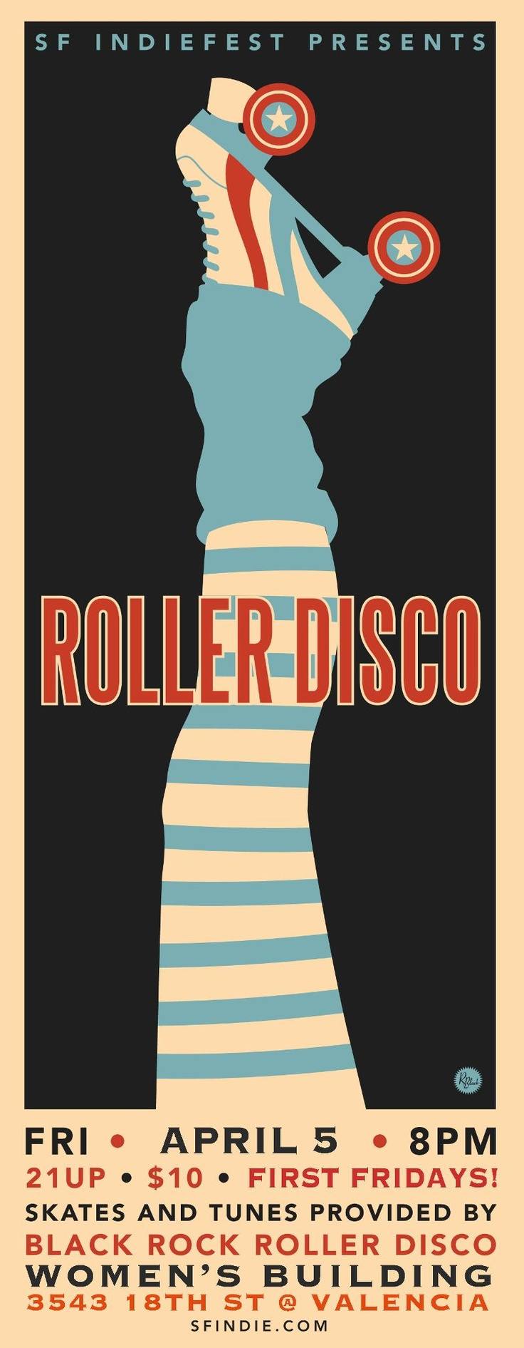 SF Indie Fest Roller Disco Poster