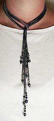 IDEA: Black Magic Lariat and Earrings Set (eebeads.com)  I'm definitely making the latest. I think it's a really cool idea!