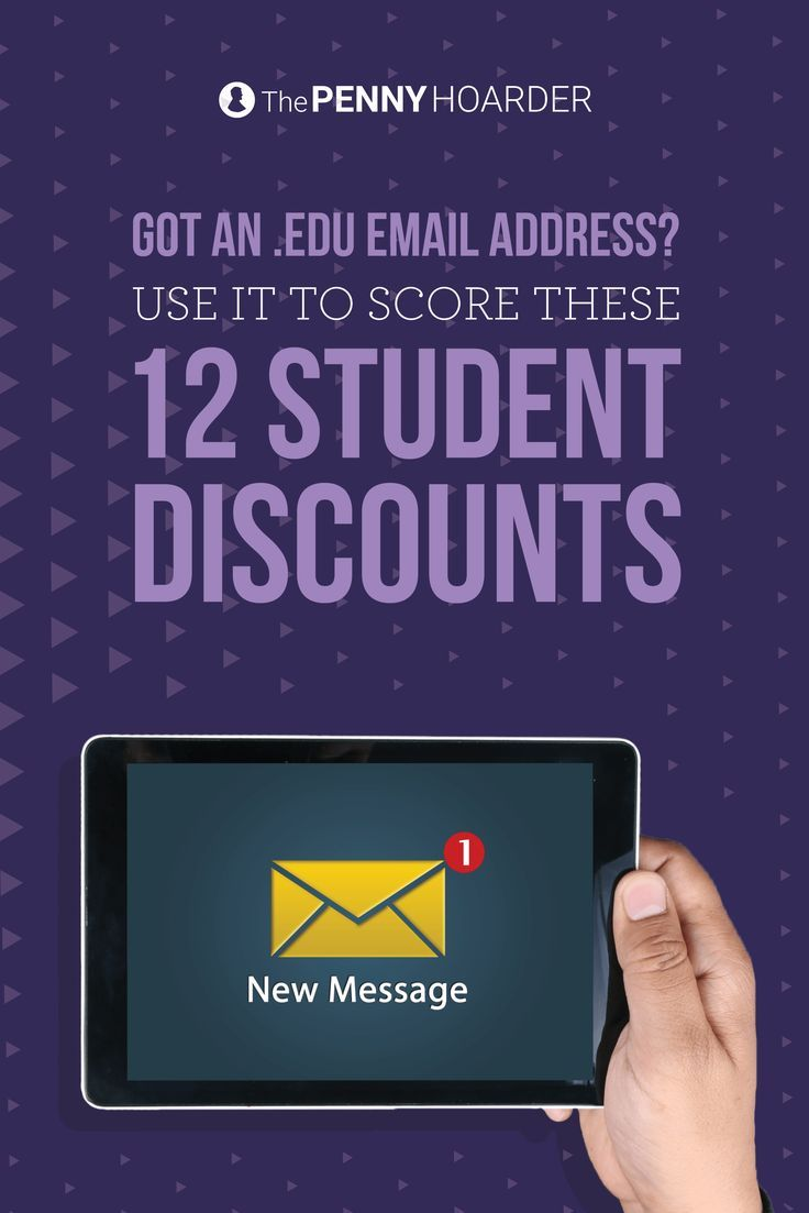College is expensive -- but your college email address is a gold mine. Here are 12 considerable student discounts you can get with your .edu email address. - The Penny Hoarder /thepennyhoarder/
