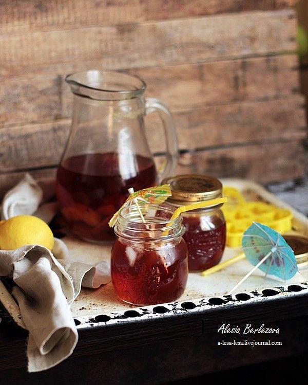Люблю кулинарить и снимать... ничего не могу с собой поделать... - Холодный персиковый чай
