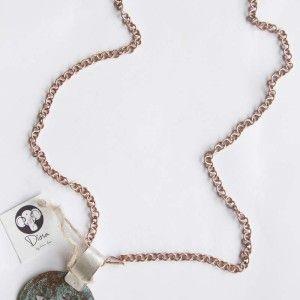 Collar de la Colección DIOSA BY VICTORIA ALONSO, collar de cobre patinado con plata 950. Todo fabricado a mano. www.victorialonso.com