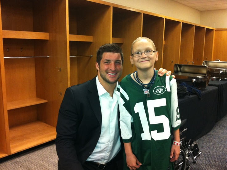 W15H   Tim Tebow Foundation Ethan Hallmark Age 11 from Midlothian, TX New York Jets vs. Pittsburgh Steelers game September 16, 2012