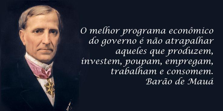 Frase Barão de Mauá sobre Governo