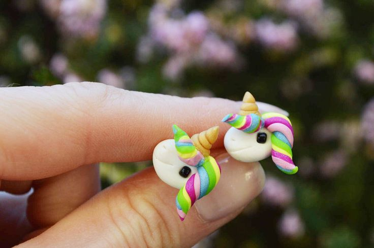 Good luck gift - handmade unicorn earrings now available in my shop -  https://www.etsy.com/ca/listing/509287642/handmade-good-luck-earrings-cute-unicorn
