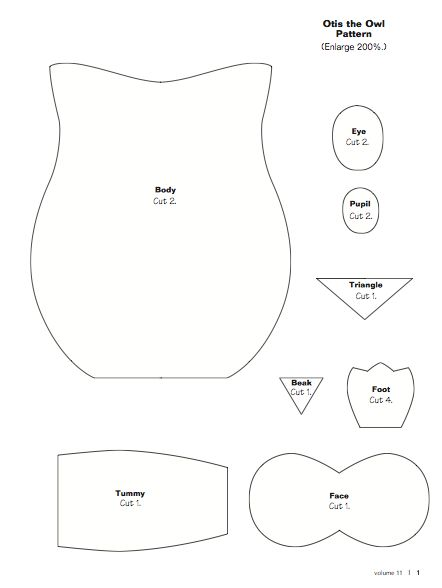 Paper Owl Template | ... owls first you can download the base template for the owl here at