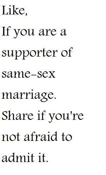OMG!!! OMG!!! It's about gay marriage and i don't know what to do...?
