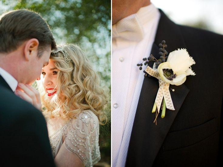 Жених и невеста на свадьбе в стиле арт-модерн