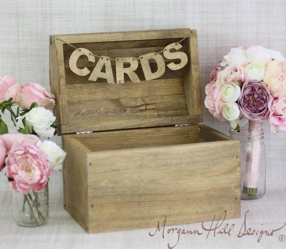 Rustic Card Box Country Wedding Barn Farm Garden by braggingbags