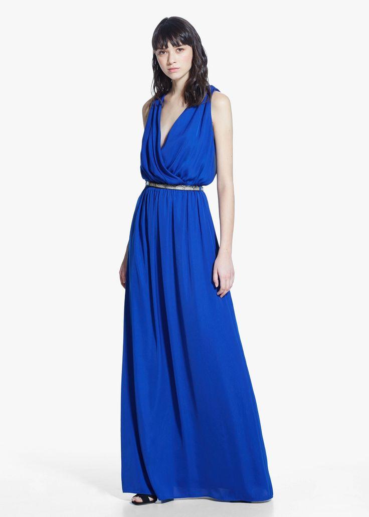 Robe longue fluide - Robes pour Femme | MANGO