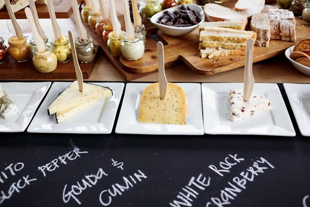 cheese and wine table