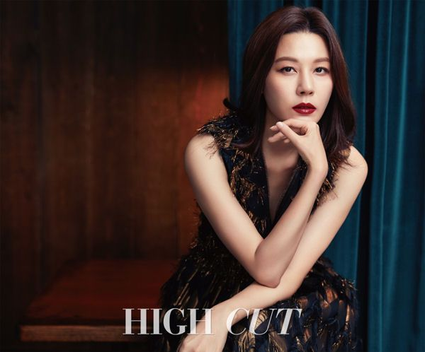 """Wearing Dolce & Gabbana, Mark Jacobs and Rick Owens dresses, Kim Ha Neul gets her sexy on for the cover of High Cut. Be sure to check out her latest drama, """"On The Way To The Airport&#822…"""