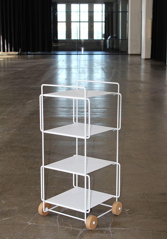 Hanko trolley in white. Design by Helena Mattila. Made in Finland.