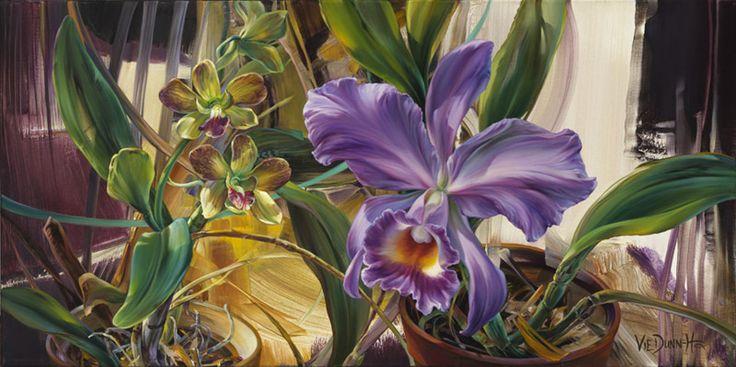 """Vie Dunn-Harr - Tropical Sanctuary oil on canvas - 15""""x30"""""""