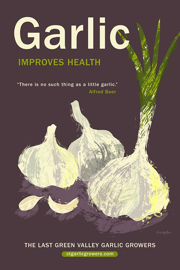 Garlic poster by Michael Crampton.