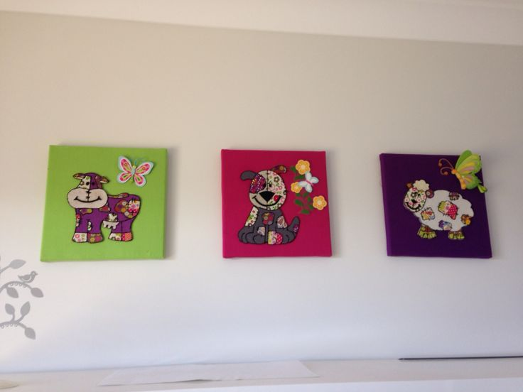 Canvas wall art #appliqué  For Olivias room