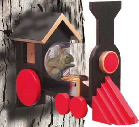 Jar Squirrel Feeder Plans | ... Home > 19-W2648 - Squirrel Feeder Chew-Chew Train Woodworking Plan