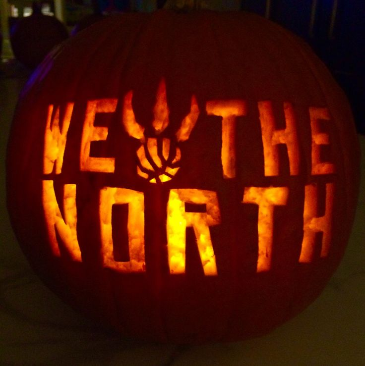 Raptors fans all around the country are carving Raptors-related logos into pumpkins! Description from www2.tsn.ca. I searched for this on…