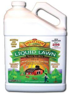 Urban Farm Fertilizers Liquid Lawn Fertilizer, 1 Gallon, 10-1-2 by Urban Farm Fertilizers. $27.95. 100% water soluble, potent, precision formulated and blended.. 100% nutrition: Macros & Micros, Calcium and Iron, full N-P-K!. Hand-crafted, Micro-brewed liquid lawn fertilizer for all lawns.. Super-concentrated: 256:1. One gallon makes 256 gals of full strength fertilizer.. Perfect for easy tank and hose-end spraying! Instant Green!. Liquid Lawn 10-1-2 from Urban Far...