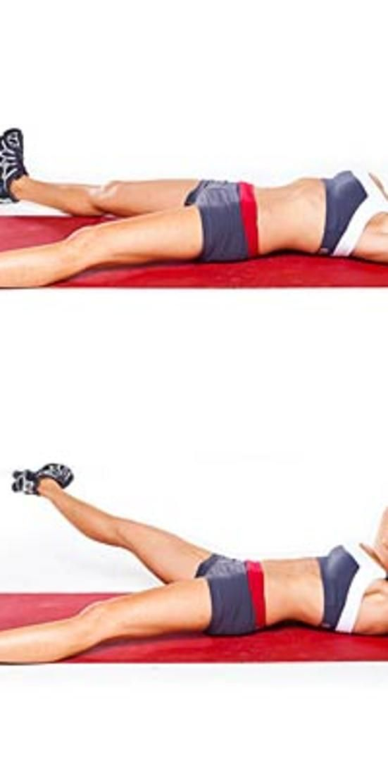 Inner thigh crunch lift  - Score gorgeous abs fast with this fat-blasting core workout from Tracy Anderson.