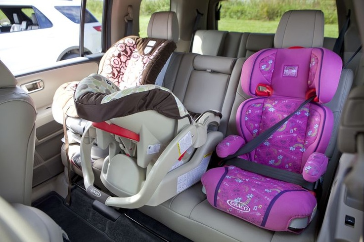 How many car seats fit in a 2012 Honda Pilot? Good to know!