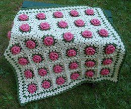 Field of Flowers Baby Blanket – PB-108 – A crochet pattern from Nancy Brown-Designer. Such a lovely item for a baby girls' nursery, this blanket is destined to become a family heirloom. This crochet pattern PDF can be purchased at my Ravelry Pattern Store for $3.99, just click on the photo.
