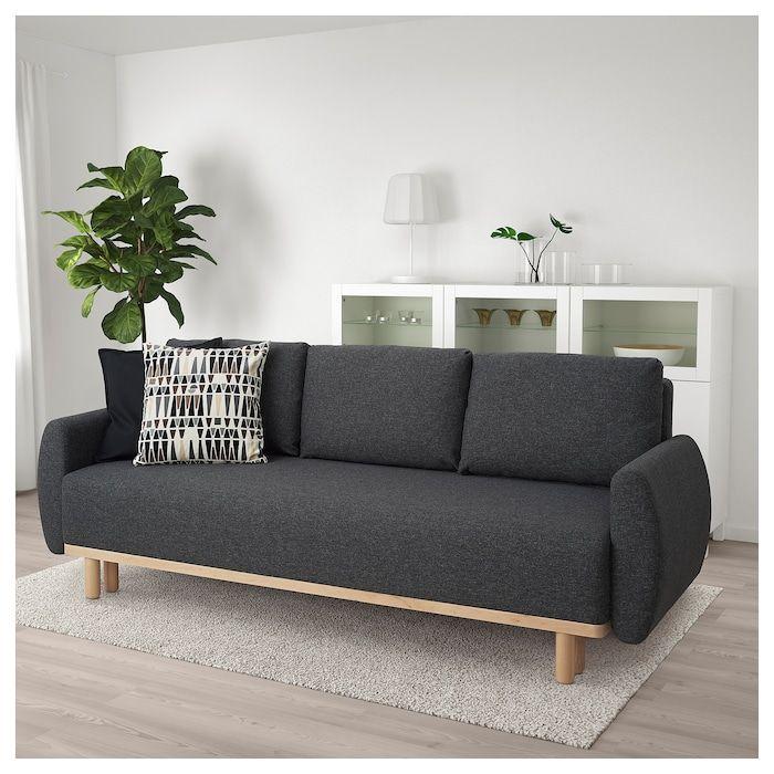 Grunnarp 3er Bettsofa Gunnared Dunkelgrau Ikea Deutschland Sofa Furniture Kivik Sofa