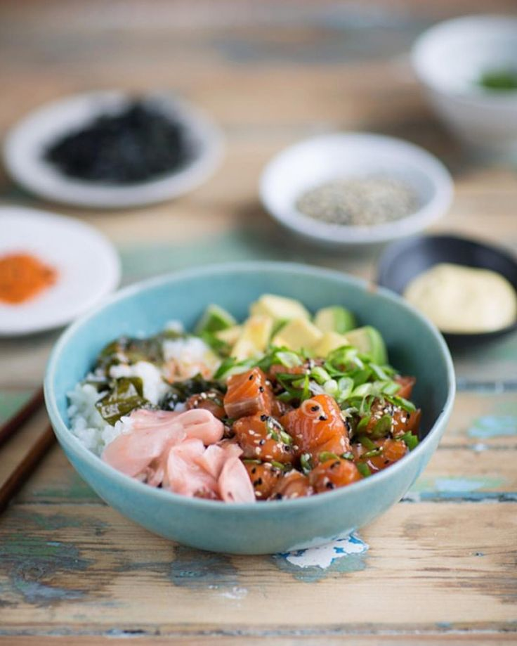 "480 Likes, 21 Comments - Sam Linsell (@drizzleanddip) on Instagram: ""This is my salmon poke which is essentially sushi in a bowl with all my favourite seasonings. I've…"""