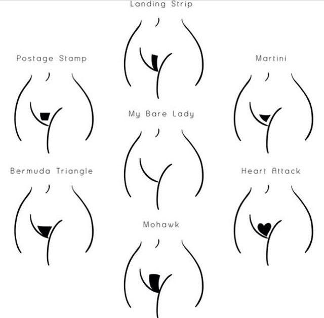 Bikini line hair styles