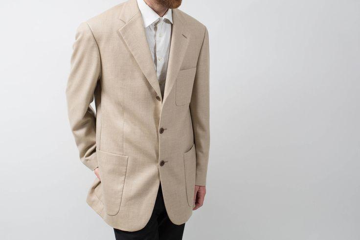 Loro Piana Cashmere Sports Jacket Blazer / Vintage Large Beige Camel Soft Suit Coat by PrincipalVintage on Etsy