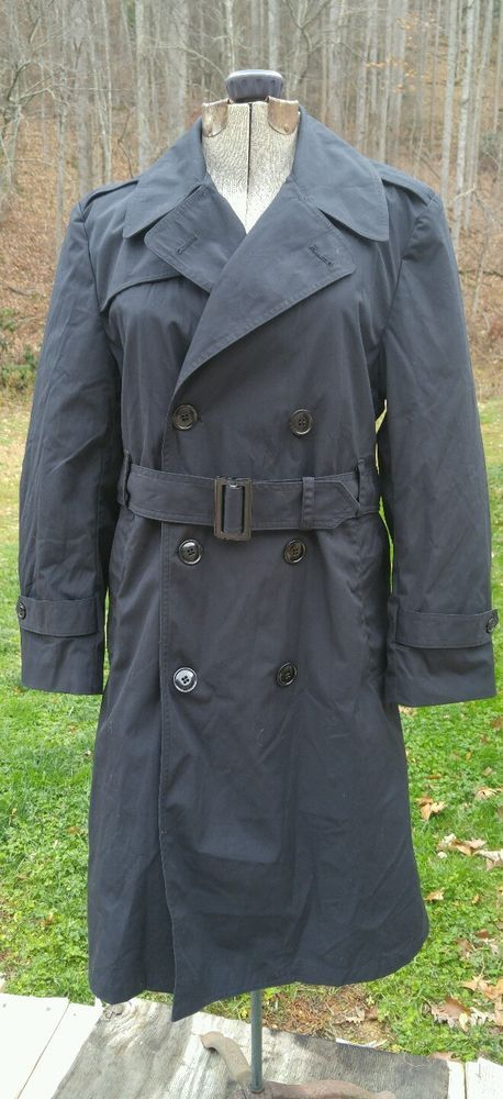 VINTAGE USA ARMY DPSC COAT ALL-WEATHER MEN'S TRENCH SIZE 42XS W/REMOVABLE LINER   Collectibles, Militaria, 1992-2001   eBay!