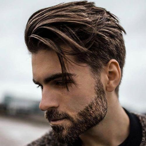 Short Sides With Long Textured Top And Beard Menshairstyles Mens