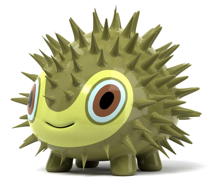 "Alien Porcupine 3D character ""Sebon"" created by Hiroshi Yoshii"