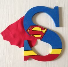 Superman Wooden Letters, Wall Decor