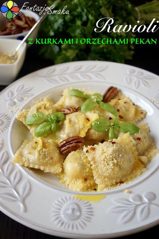 Ravioli z kurkami i orzechami pekan http://fantazjesmaku.weebly.com/ravioli-z-kurkami-i-orzechami-pekan.html