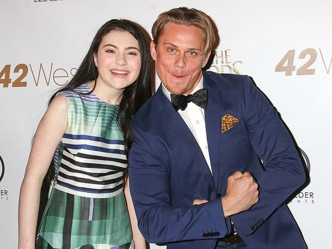 Star Tracks: Tuesday, March 24, 2015 | INTO THE ZONE | Into the Woods costars Lilla Crawford and Billy Magnussen goof around at a tribute to Stephen Sondheim in N.Y.C. on Sunday.