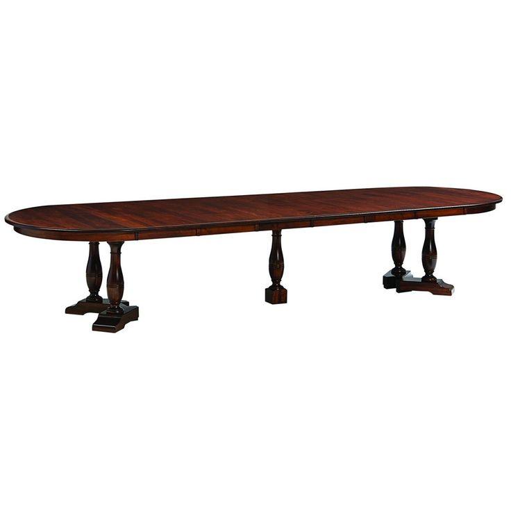 westfield split pedestal extension table