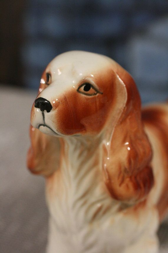 Spaniel Figurine Cocker Springer Dog Made in by sisoftmoonVintage
