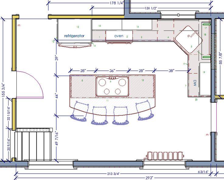 how to design my kitchen floor plan