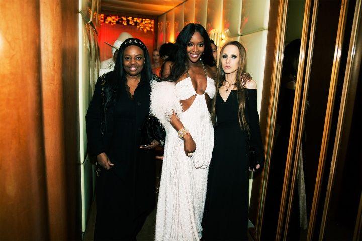 Pat McGrath, Naomi Campbell, and Allegra Versace