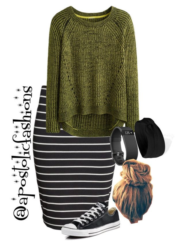 """""""Apostolic Fashions #1844"""" by apostolicfashions on Polyvore featuring H&M, Converse and Forever 21"""