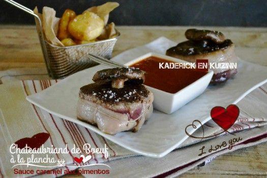 Une recette pour la Saint Valentin : Chateaubriand de Bœuf à la plancha :Duo de Bœuf à la sauce caramel pimentos de Kaderick en Kuizinn