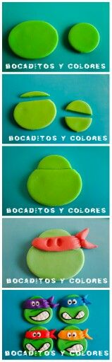 TMNT cupcake topper tutorial