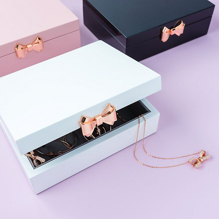 2ace2df94 Buy Ted Baker Medium Lacquered Jewellery Box, Black Online at johnlewis.com