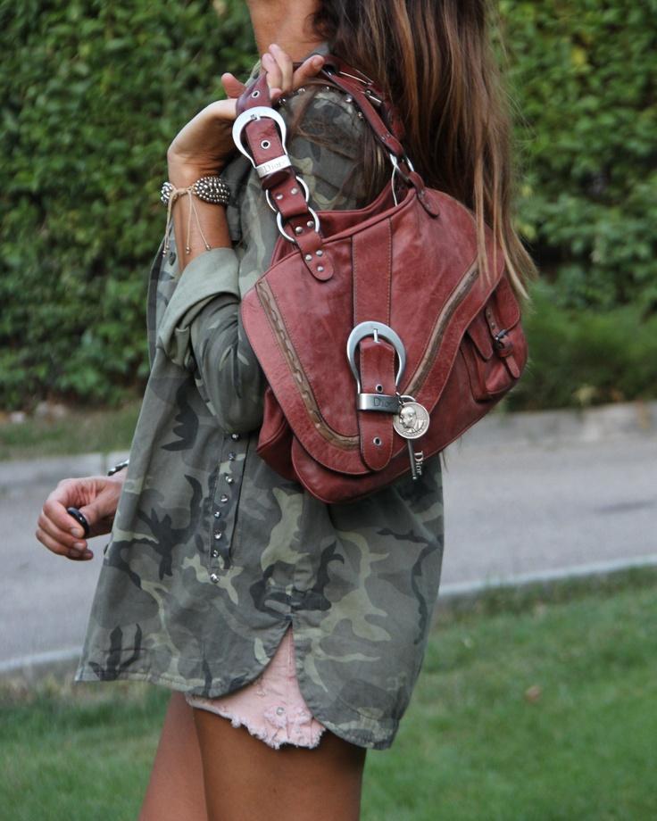 dolores promesas & camuflage shirt | mytenida en stylelovely.com