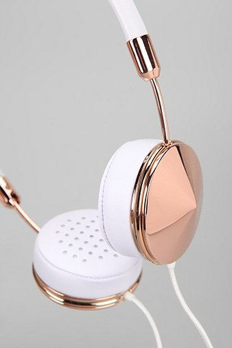Frends Layla Headphones. Zomg, rose gold headphones!